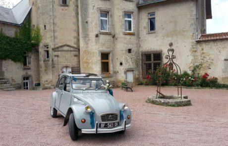 2cv attitude - mariage_au_chateau