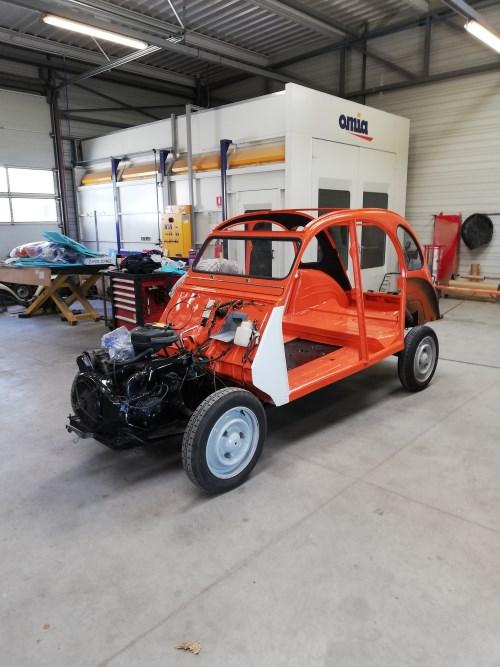 LA 2CV ATTITUDE - 2CV SPOT - atelier garage GODET.
